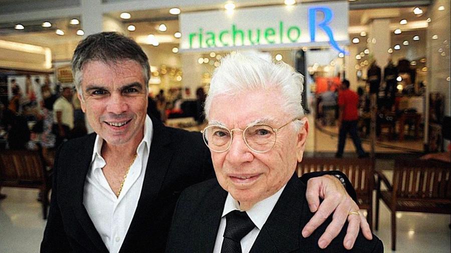 O empresário Nevaldo Rocha e o seu filho Flavio Rocha em foto postada por Flavio em sua rede social em 21 de julho de 2018 - Reprodução