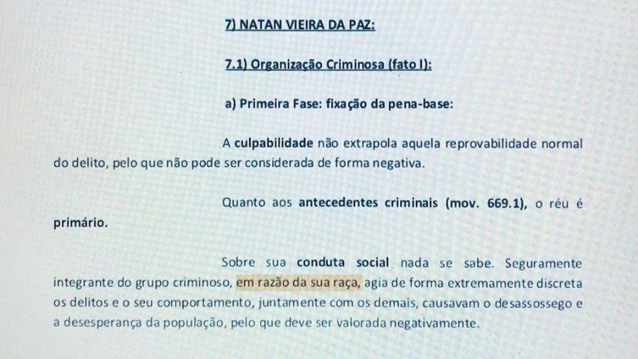 """Sentença afirma que Natan Vieira da Paz é """"seguramente integrante do grupo criminoso, em razão da sua raça"""" - Reprodução/Instagram"""