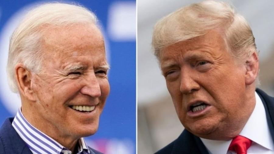 Eleição nos EUA: Trump e Biden travam batalha pela contagem de votos por correio - Getty Images