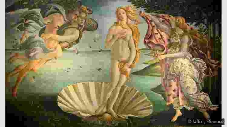 O Nascimento de Vênus, obra-prima do renascentista de Sandro Botticelli - UFFIZI, FLORENÇA - UFFIZI, FLORENÇA