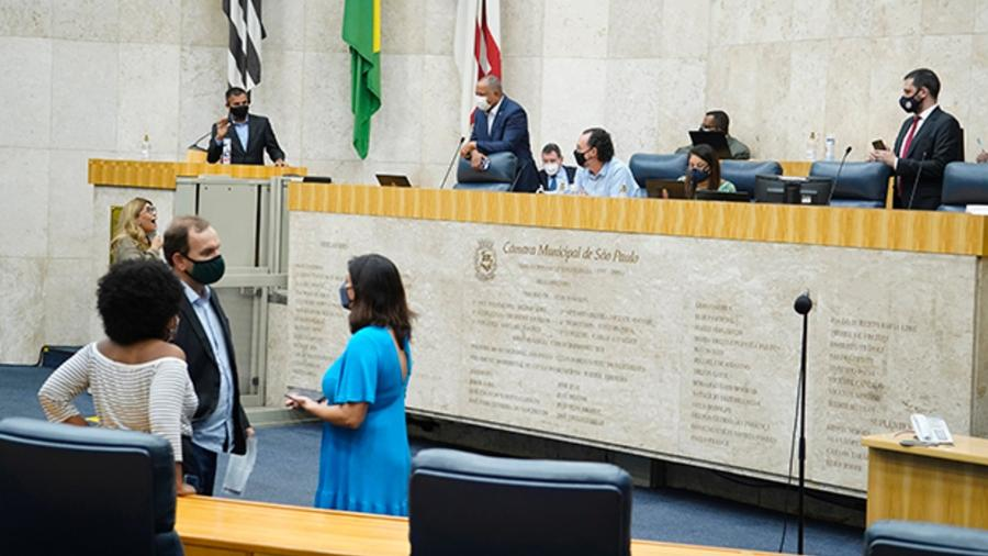 Na Câmara Municipal de São Paulo, sessões voltam a ser virtuais com restrições de circulação dentro da casa legislativa - Afonso Braga / Rede Câmara