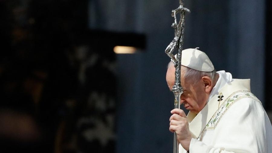 Papa Francisco celebra missa na Basílica de São Pedro, no Vaticano - Remo Casilli/AFP