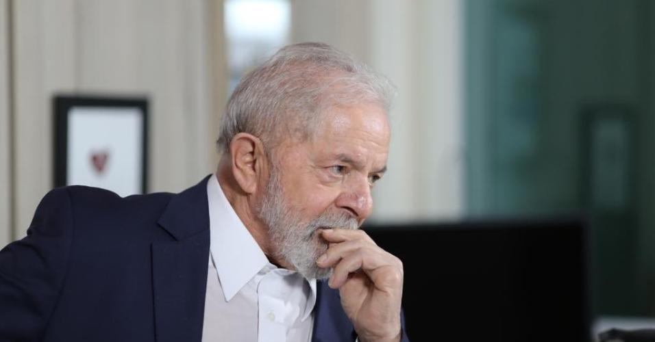 Luiz Inácio Lula da Silva em entrevista com Reinaldo Azevedo