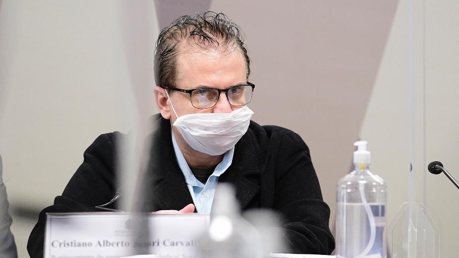 Representante da Davati no Brasil, Cristiano Carvalho, presta depoimento na CPI da Covid - Pedro França/Pedro França/Agência Senado