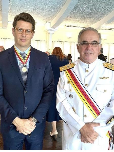 Ex-ministro Ricardo Salles recebe medalha da Justiça Militar - reprodução/redes sociais