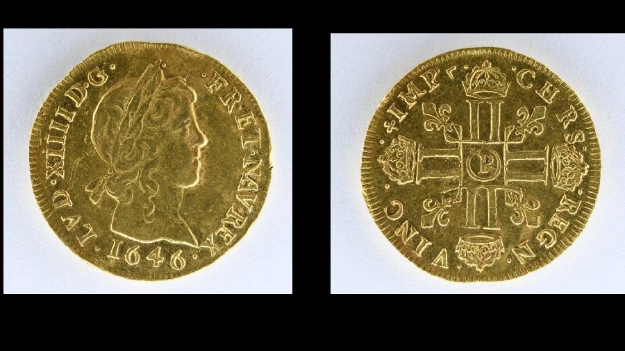 Moedas correspondem aos reinados de Luis 13 (1610-1643) e Luis 14 (1645-1715) e são avaliadas em mais R$ 1,5 milhão - IVOIRE ANGERS/DELOYS