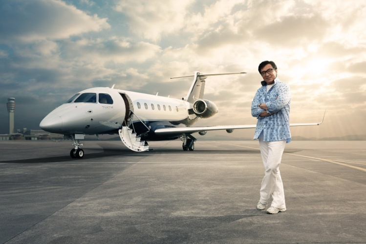 Embraer vende jato de US$ 20 mi ao ator Jackie Chan