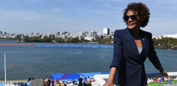 Michaelle Jean, secretária-geral da Organização Internacional de Francofonia, na Lagoa