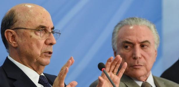 Ministro da Fazenda, Henrique Meirelles (e), e presidente Michel Temer