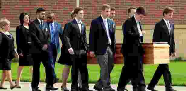 22.jun.2017 - Parentes e amigos participam do funeral de Otto Warmbier, em Wyoming, Ohio (EUA) - John Sommers II/ Reuters - John Sommers II/ Reuters