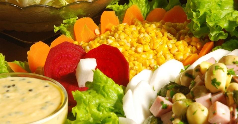Divino Fogão mesa de saladas