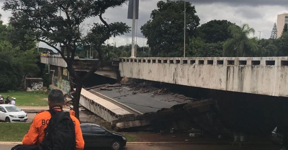 """De acordo com o major Michello Bueno, """"a estrutura toda ficou abalada"""". Equipes técnicas estão no local para avaliar as causas do incidente"""