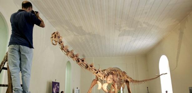 """O """"Maxakalisaurus topai"""" no museu, em meados dos anos 2000 - Bruno Domingos/Reuters"""