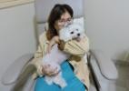 Hospital autoriza cadela a visitar idosa que queria abandonar tratamento - Cláudia Albuquerque / Divulgação