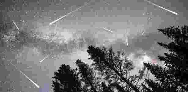 As Perseidas ficam visíveis no começo de agosto, com pico na madrugada do dia 12 para o dia 13  - GETTY IMAGES - GETTY IMAGES
