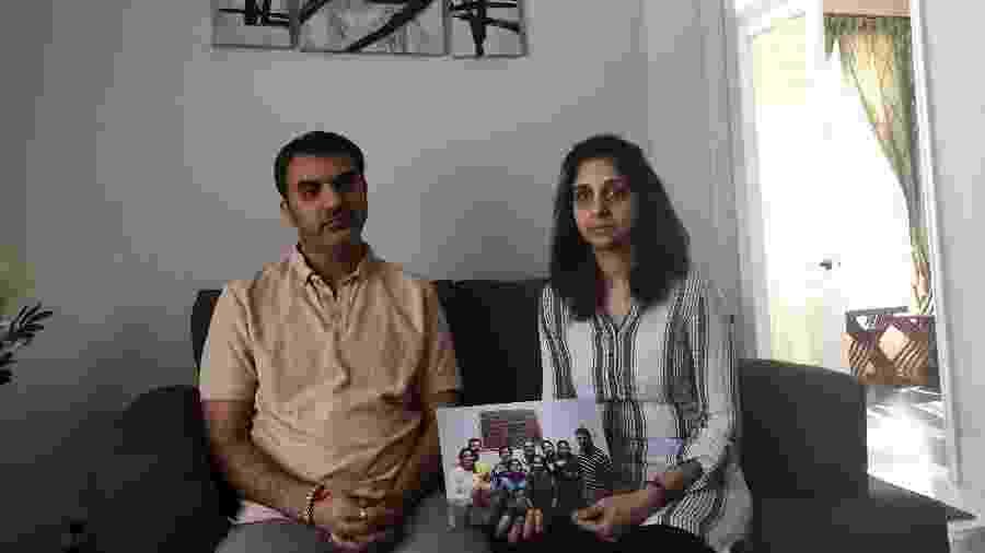 Manant Vaidya e sua mulher, Hiral. Três gerações da família Vaidya morreram no acidente aéreo da Ethiopian Airlines - Dan Bilefsky/The New York Times