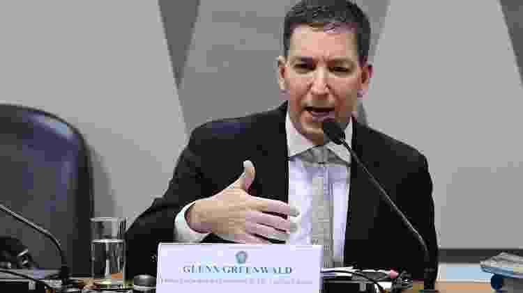 11.jul.2019 - Glenn Greenwald, jornalista e fundador do site The Intercept, participa de audiência na CCJ (Comissão de Constituição, Justiça e Cidadania) do Senado - Marcos Oliveira/Agência Senado - Marcos Oliveira/Agência Senado