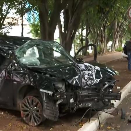 Acidente na avenida Brigadeiro Faria Lima, em São Paulo - Reprodução/TV Globo