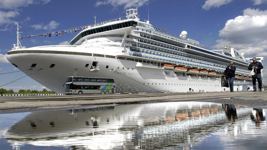 Foto de arquivo do navio de cruzeiro da companhia Princess Cruises - Stringer/Interpress/AFP
