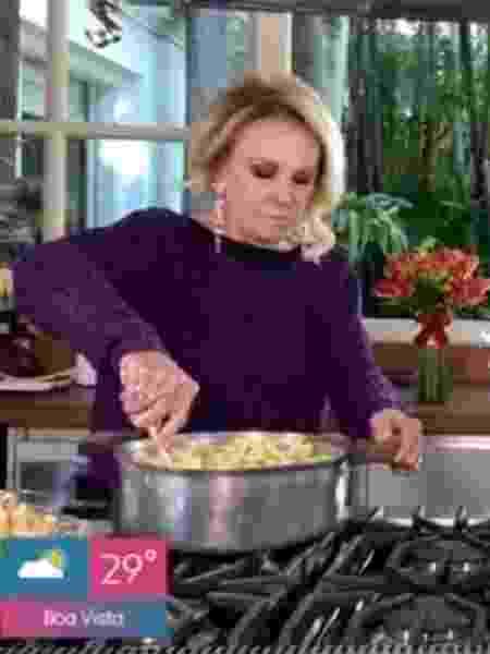 Ana Maria ensina a fazer pipoca com leite em pó - Reprodução/Rede Globo