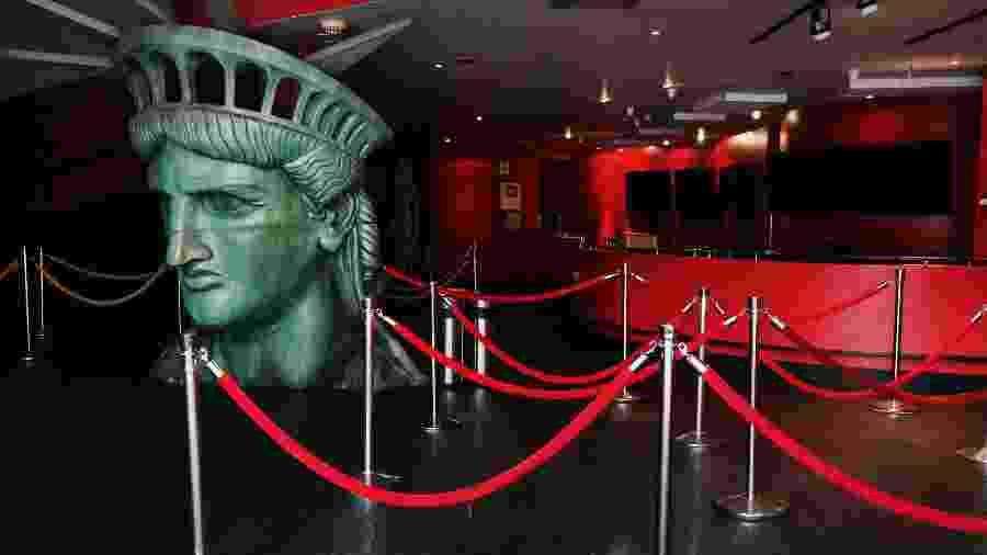 Entrada do Museu Madame Tussauds em Nova York, nos Estados Unidos; museus irão reabrir - SPENCER PLATT