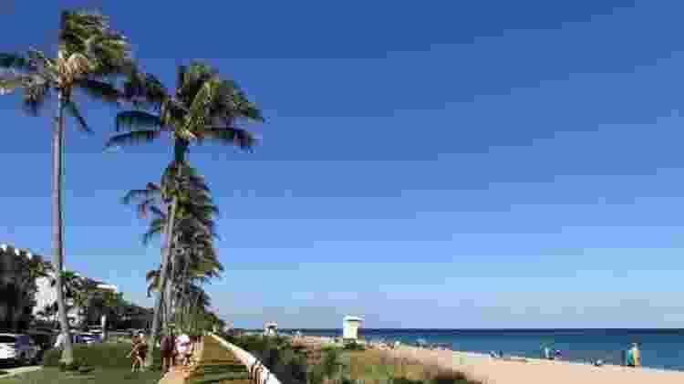 A praia de Palm Beach tem em torno de 5 km de extensão - BBC MUNDO - BBC MUNDO