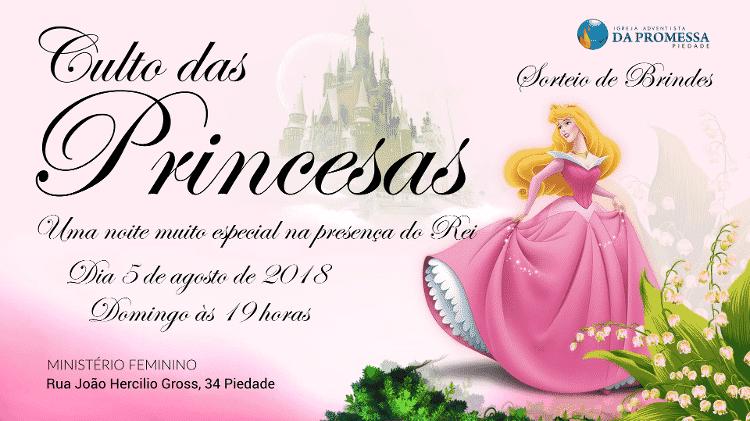 """Convite para o """"Culto das Princesas"""", que agora virou curso dedicado a """"cachorras"""" arrependidas - Reprodução - Reprodução"""