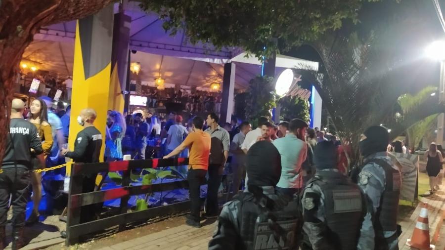 Polícia encerra evento com Israel Novaes por aglomeração na cidade de Sinop, em Mato Grosso - Divulgação/Polícia Militar do Mato Grosso