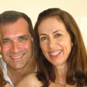 O casal Leânia e Paulo César de Carvalho Telles