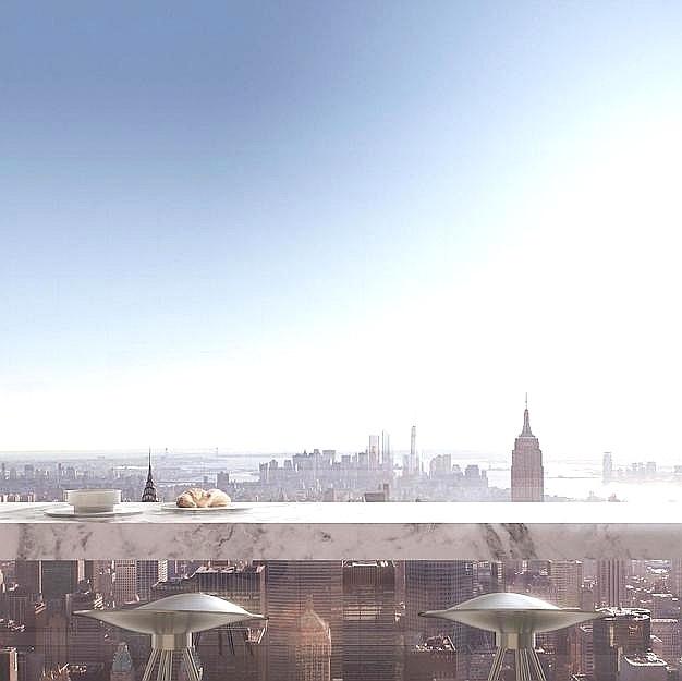 06.set.2016 - Os moradores do prédio residencial mais alto de Nova York, nos Estados Unidos, terão mais um
