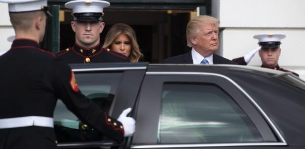 Presidente Donald Trump espera a chegada do primeiro-ministro de Israel, Benjamin Netanyahu, na Casa Branca, em Washington