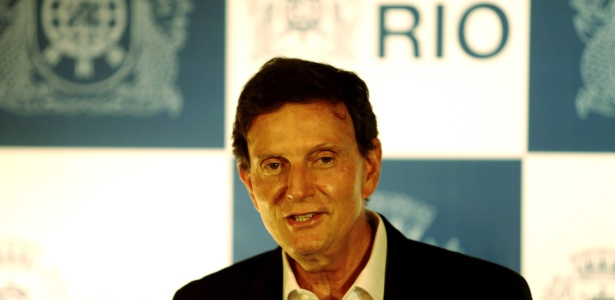 7.abr.2016 - O prefeito do Rio de Janeiro, Marcelo Crivella, reuniu todo o seu secretariado para fazer um balanço dos primeiros cem dias à frente do governo municipal