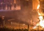 Incêndio destrói campo que abrigava 1.500 refugiados na França e deixa feridos - AFP PHOTO / PHILIPPE HUGUEN