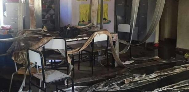 Creche na cidade de Janaúba ficou completamente destruída