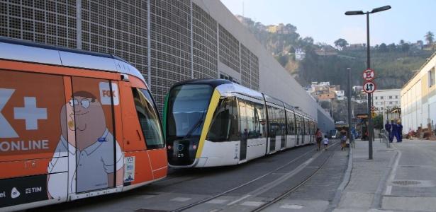 Por medida de segurança, 12 estações do VLT ficaram fechadas - José Lucena/Futura Press/Estadão Conteúdo