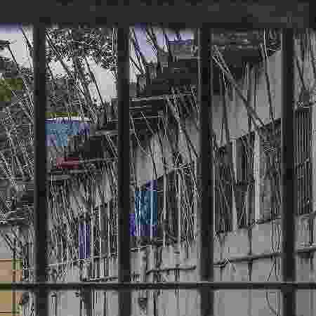 10.ago.2018 - Instalações do Complexo Penitenciário Anísio Jobim (Compaj), em Manaus, em janeiro de 2017, após rebelião que resultou na morte de 56 presos - Marlene Bergamo/Folhapress