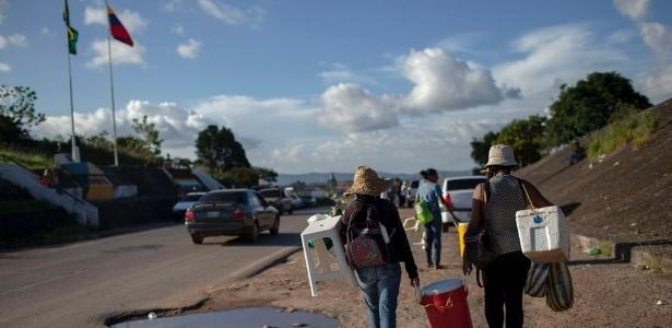 Pacaraima é porta de entrada para os venezuelanos que entram no Brasil por terra - de 500 a 900 por dia - AFP