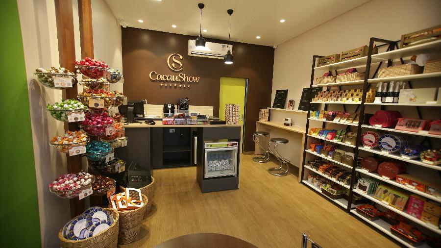A Cacau Show tem quatro modelos de loja, incluindo quiosques e unidades abertas em contêineres - Divulgação