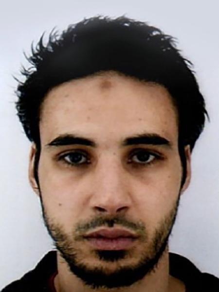 Chérif Chekatt, susposto autor do atentado em Estrasburgo, na França, em imagem divulgada pela polícia francesa - AFP