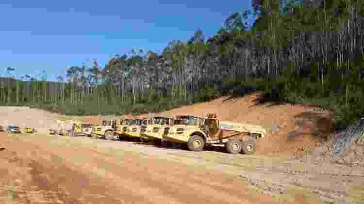 Canteiro de obras da Vale na região do povoado de André do Mato Dentro, em Minas Gerais - Programa Polos de Cidadania/UFMG