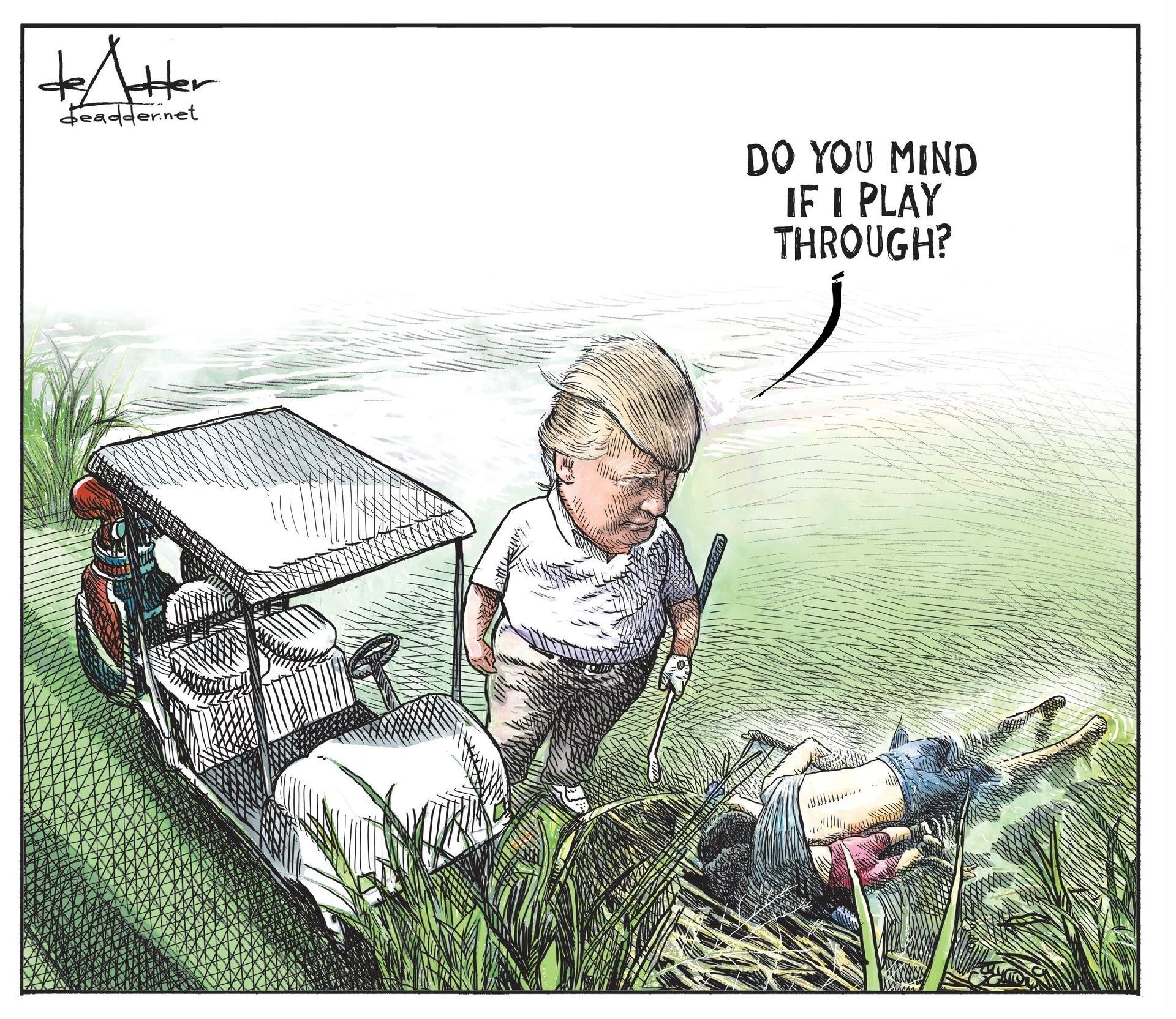 Cartunista E Demitido Apos Publicar Desenho De Trump Com