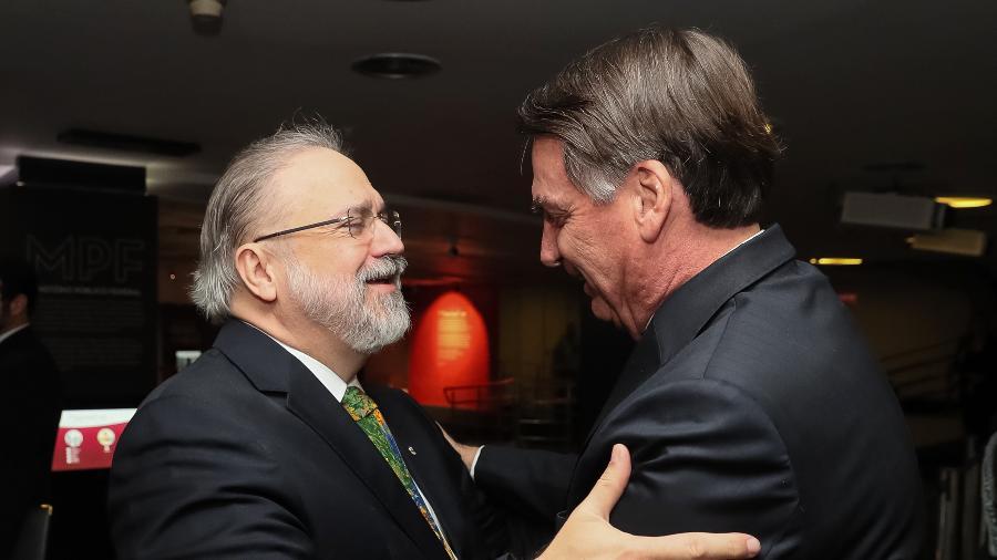 2.out.2019 - O presidente Jair Bolsonaro na cerimônia de Posse do Procurador-Geral da República, Augusto Aras - Isac Nóbrega/PR