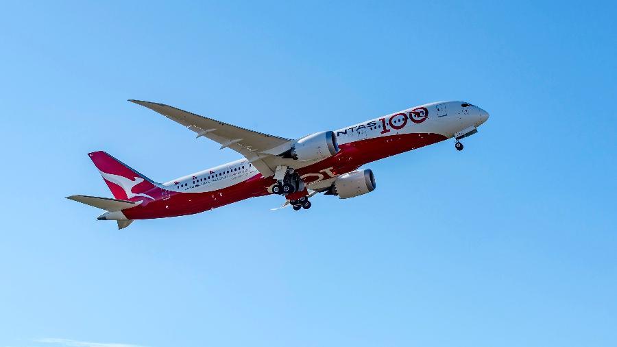 Qantas usou um Boeing 787-9 para testes de voos ultralongos - Divulgação