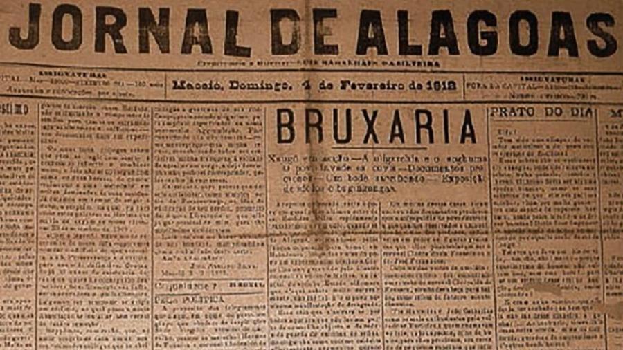 """Jornal de Alagoas de 1912 falou em """"bruxaria"""" ao abordar ataque contra terreiros em Maceió - Reprodução"""