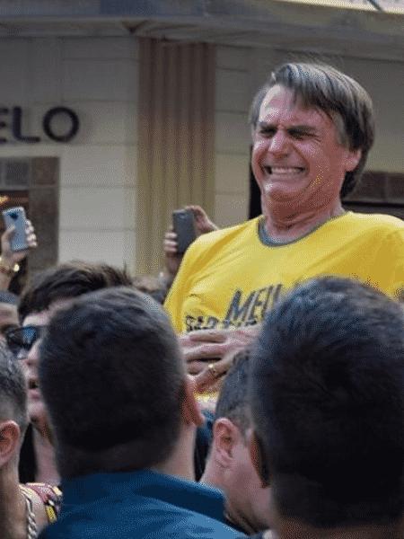 Momento da facada em Jair Bolsonaro - Reprodução de vídeo