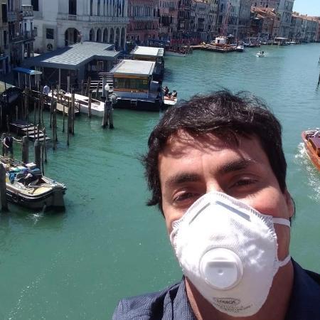 Em Veneza, a passeio - Arquivo Pessoal