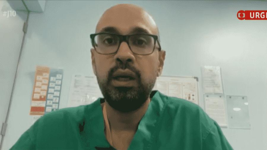 O cirurgião plástico brasileiro Ghassan Said que está atendendo as vítimas da explosão em Beirute; mais de 100 pessoas morreram na tragédia - Reprodução/GloboNews