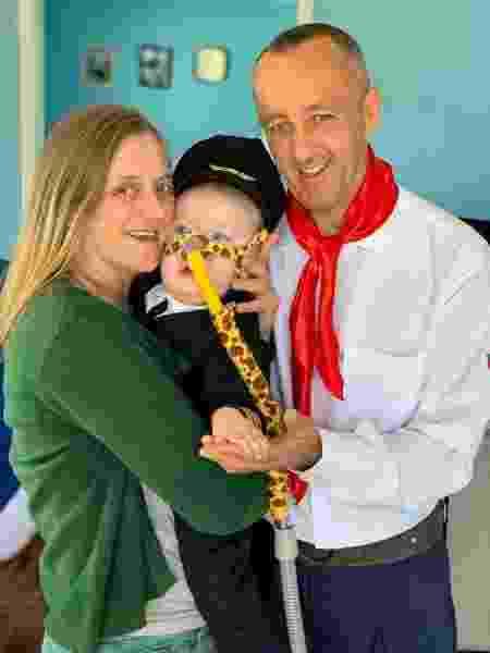 João Emanuel tem um ano e três meses e sofre de AME (Atrofia Muscular Espinhal) tipo 1 - Acervo pessoal
