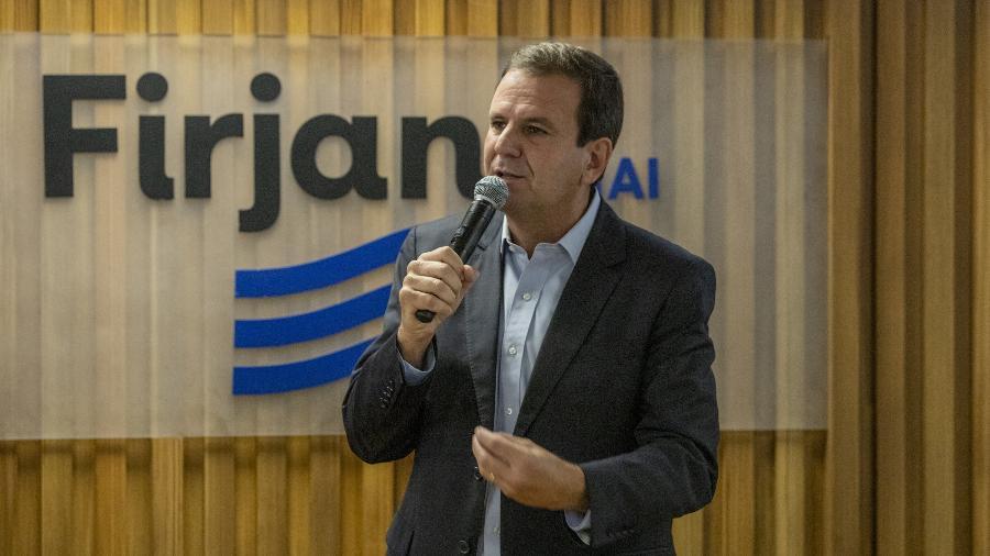 02 dez. 2020 - Eduardo Paes (DEM), prefeito do Rio de Janeiro, no Centro de Convenções da Firjan - Michel Filho/Enquadrar/Estadão Conteúdo