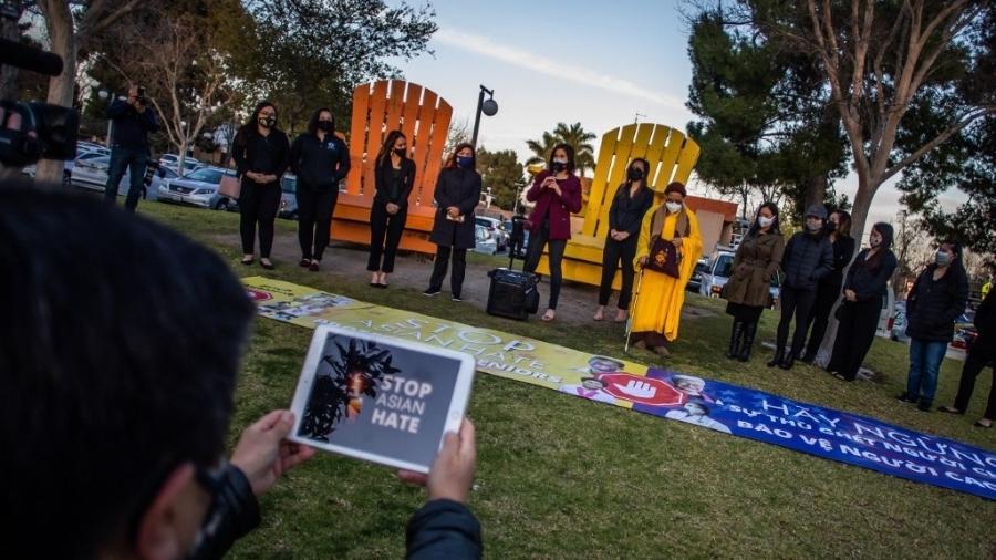 Comunidade asiática no sudeste dos EUA denuncia o aumento da violência racista e crimes de ódio - Apu GOMES / AFP